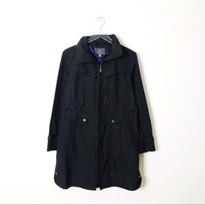 Cole Haan Packable Rain Jacket with Hood in Black